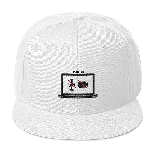 Level Up! White Snapback Hat