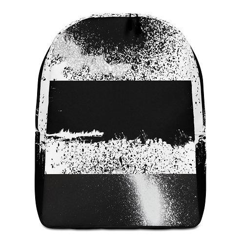 Black and White Spray Paint - Gatza - Minimalist Backpack