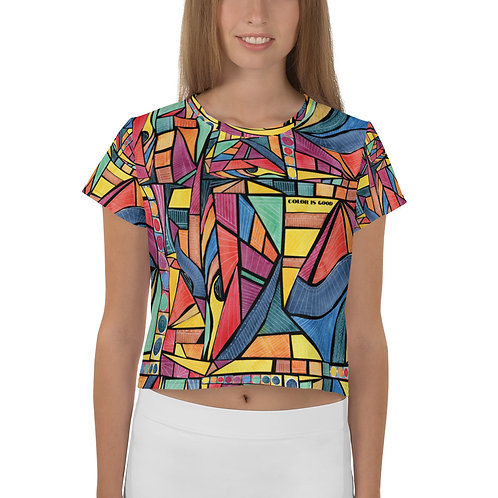 COLOR IS GOOD - All-Over Print Crop Tee