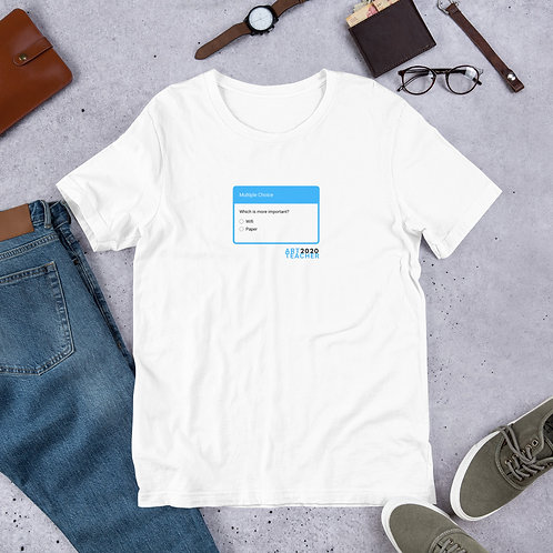 Wifi or Paper? Short-Sleeve Unisex T-Shirt