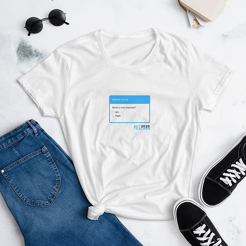 Wifi or Paper? - Women's short sleeve t-shirt