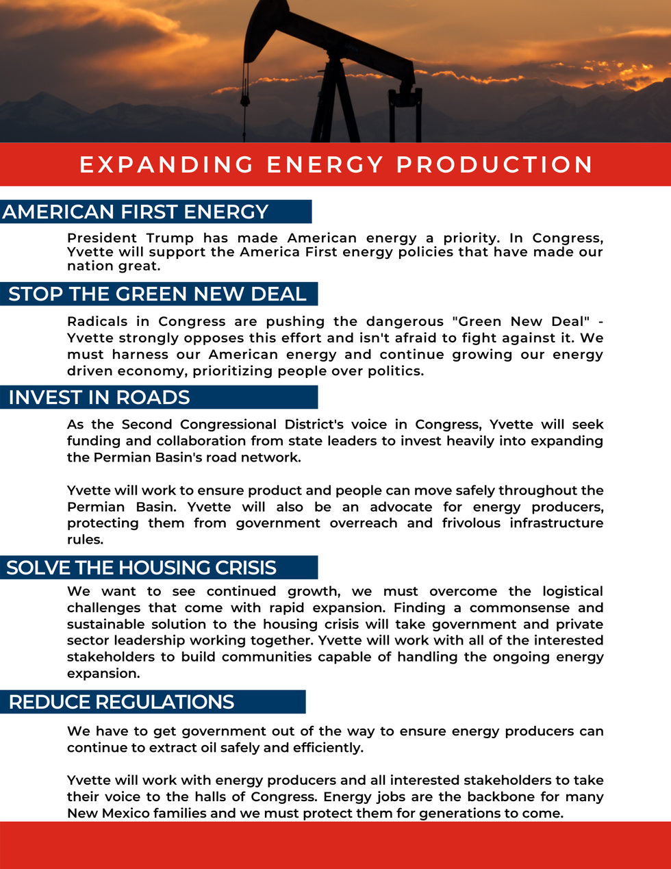 Expanding Energy Production