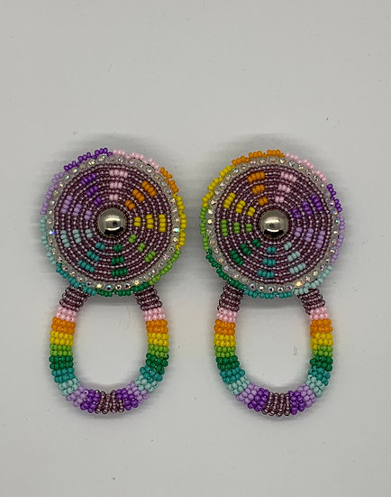 Purple Pastel Rope Earrings