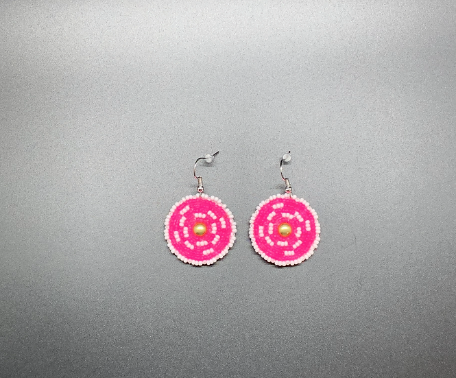 Small Hot Pink Earrings