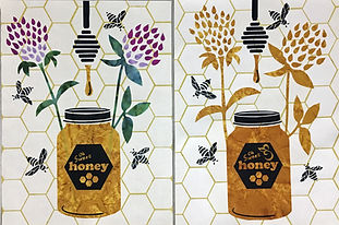 Heidi Proffetty Artist, Is She Ready Yet?, Heidi Proffetty Products, Heidi Proffetty Art, Sweet Honey Wall Quilt