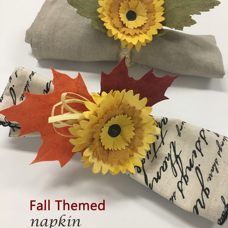 Fall Themed Napkin Rings, New Quilt in Progress, Trust the Process and Teaching at Houston