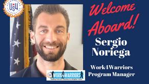Welcome Work4Warriors Program Manager, Sergio Noriega