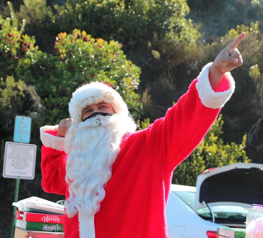 Santa at Feast4Warriors