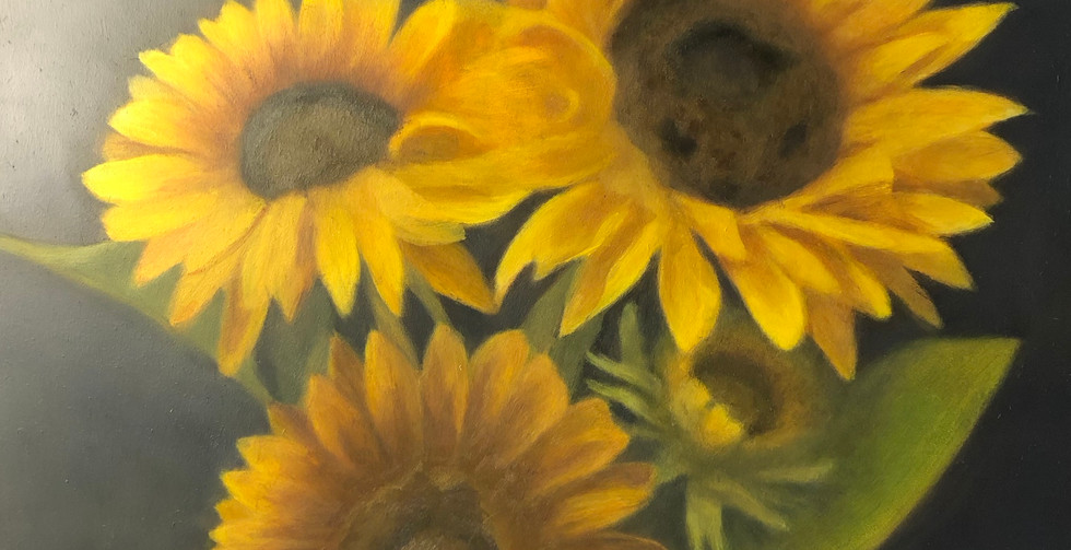Jennifer Wolfe, Sunflowers in Quarantine