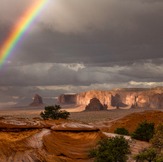 Rainbow in the Valley by Mike Whitman