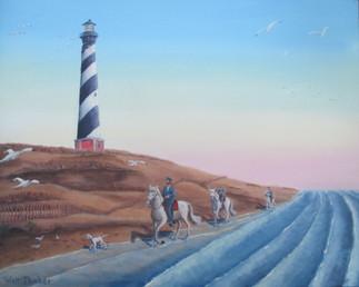 Morning Ride Surf Side by Walt Thacker
