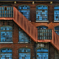 Factory Stairs by John Bartlow