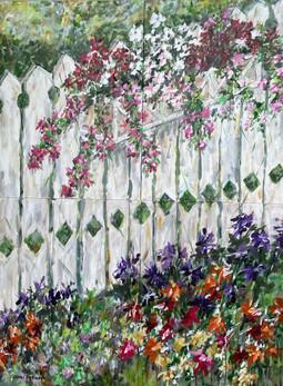 Flower Box Fence by John Dierdorf