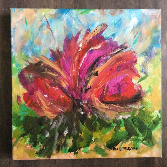 Red Flower 20 by John Dierdorf