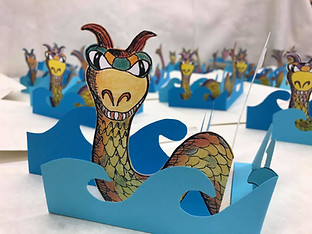 White River Monster Pop Up Cards