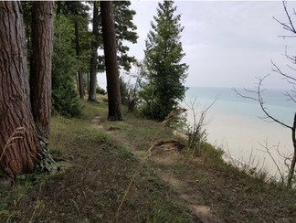 Manistee Beach on Lake Michigan by Amy L
