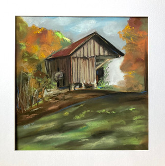 Whitewater River Barn by Leslie Ober