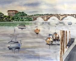 Mansoureh Sameni, Boats on the Potomac R