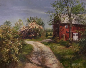 Eastside Barn by Lesley Haflich