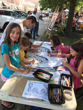 Art Fair on the Square Coloring Activity