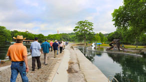 A Walk in the Park - EAHCP Team Takes Stakeholders on Tour of Comal River Old Channel