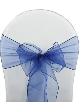 Noeud Organza Bleu Marine Dreams Locatio