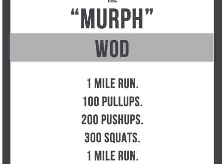 Preparing for and Conquering Hero WOD MURPH