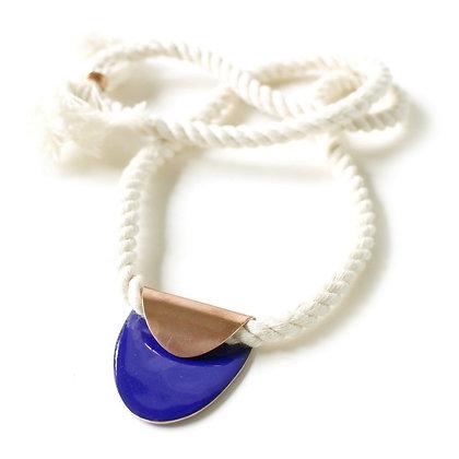 WS Folded Oval Necklace