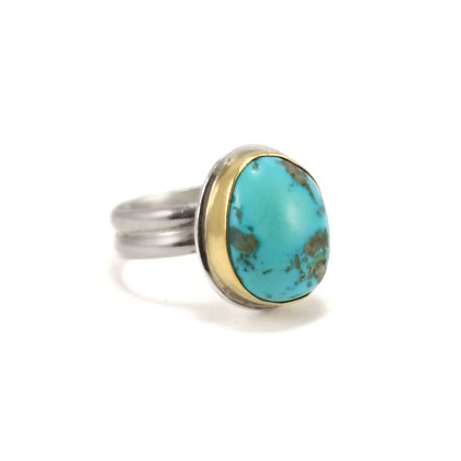 Rustic Turquoise Ring