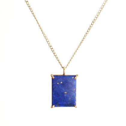 WS Lapis Rectangle Necklace