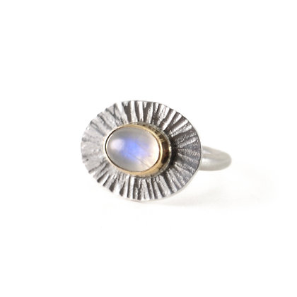 Moonstone Sunburst Ring
