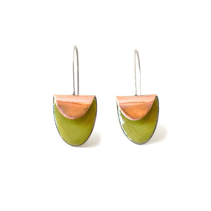 WS Folded Oval Earrings