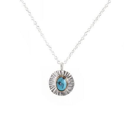 Turquoise Sunburst Necklace