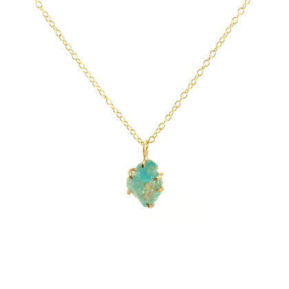 WS Raw Emerald Necklace