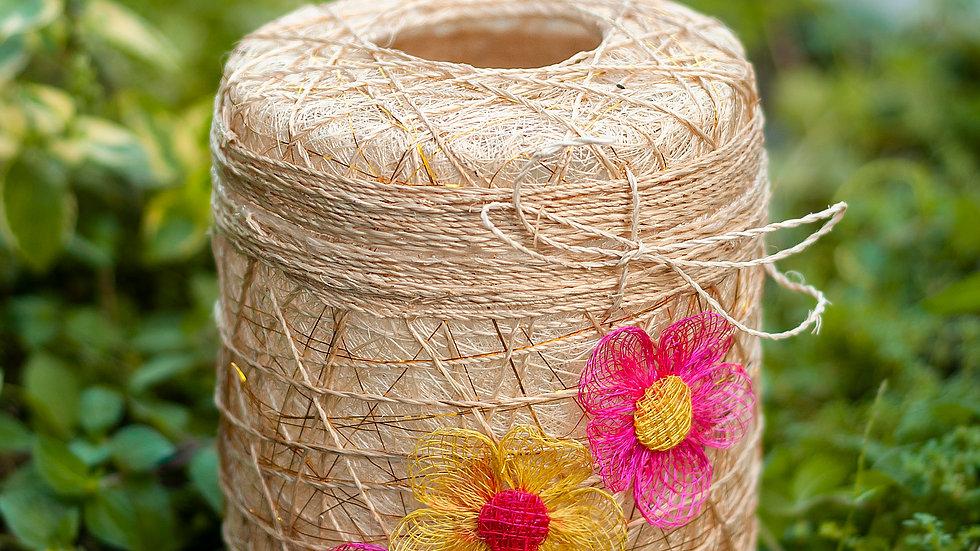 Abaca Round Tissue Holder