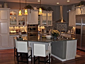 Arizona General Contractor, Kitchen Remodel, White cabinets, remodeling, remodeler, double ovens, stainless steel