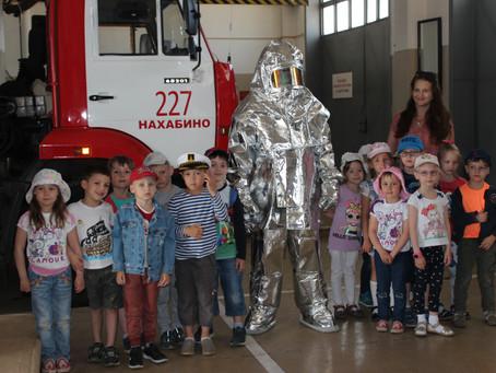 Экскурсия в пожарно-спасательную часть №227 Нахабино