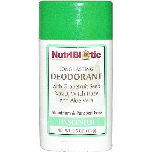 Déodorant Nutribiotic longue duré sans parfum. Pour tous.