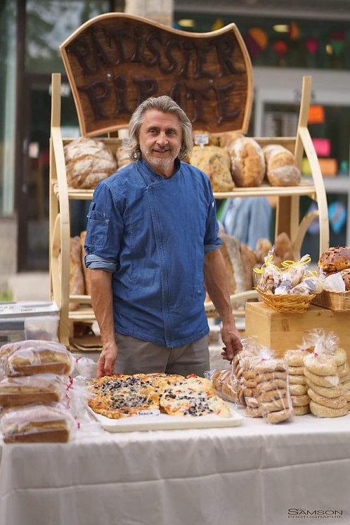 Pâtisserie le PIRATE Pains belge au levain, différents$$