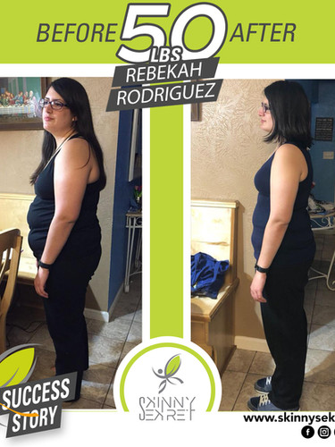 REBEKAH RODRIGUEZ 50LBS - TRANSFORMATION