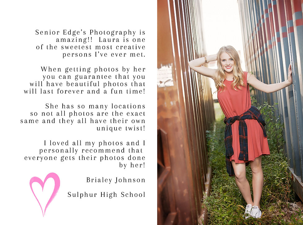 Brialey Johnson, Sulphur High School, Senior Edge Model