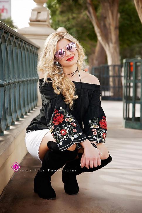 Senioredge model Shelby Eldred, Las Vegas Strip