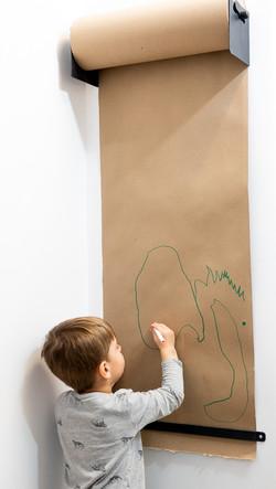 Playroom Wall Easel