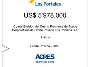 ACRES Agente de Bolsa colocó bonos corporativos de Los Portales por 6 millones de dólares