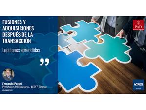 PAD: Artículo por Fernando Parodi, sobre fusiones y adquisiciones después de la transacción