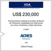 Fideicomiso de ACRES Titulizadora concreta financiamiento a 2 años por USD 230,000