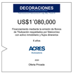Fideicomiso de ACRES Titulizadora concreta financiamiento a 6 años por USD 1'080,000