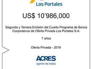 ACRES Agente de Bolsa colocó bonos corporativos de Los Portales por 11 millones de dólares