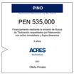Fideicomiso de ACRES Titulizadora concreta financiamiento a 3 años por PEN 535,000