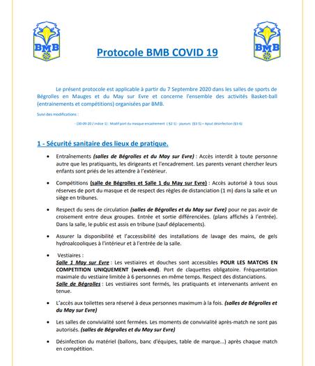 PROTOCOLE BMB COVID 19
